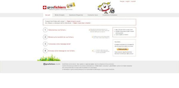 GrosFichiers : envoi de fichiers lourds via le web