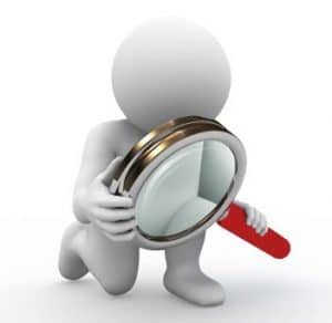 character and magnifying glass