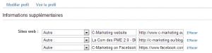 changer paramètres site web sur linkedin