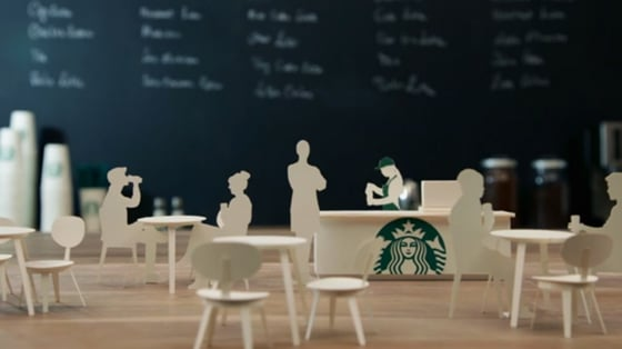 Starbucks stop-motion