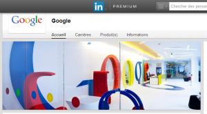 Présentation de Google   LinkedIn