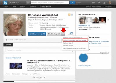 Créer un profil LinkedIn dans une autre langue.