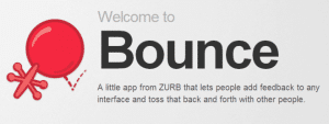 About Bounce   How to Give Easy  Fast Webpage Feedback