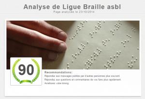 Ligue Braille asbl   Analyze de Page Facebook   LikeAlyzer