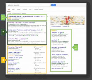 visibilité google - segments