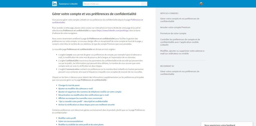 Gérer votre compte et vos préférences de confidentialité Assistance LinkedIn