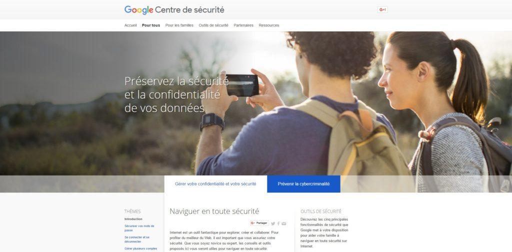 Gérer votre confidentialité et votre sécurité – Pour tous – Centre de sécurité – Google