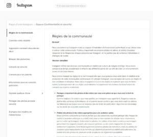 Règles de la communauté   Pages d'aide Instagram