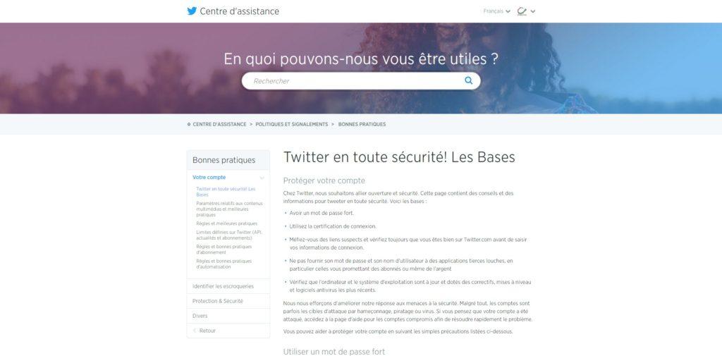 Twitter en toute sécurité Les Bases Centre d assistance Twitter