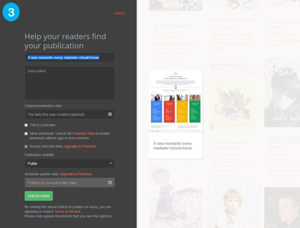 Issuu publishing