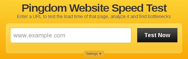 Pingdom Tools analyse la vitesse des pages web