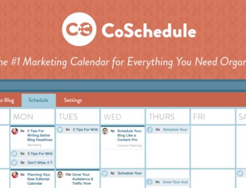 CoSchedule : la rolls du calendrier éditorial et social