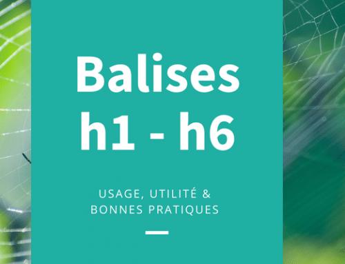 Du bon usage des balises H1 – H6